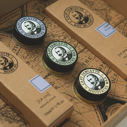 Подарочный набор Captain Fawcett Eau De Parfum, Moustache Wax & Beard Oil